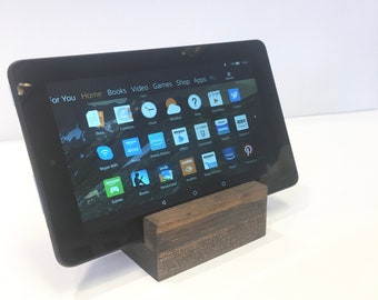 """Tablet Stand + Wood Tablet Stand + Tablet and Ipad Stand (3.5""""L x 3.5""""W x 4.25""""T)"""