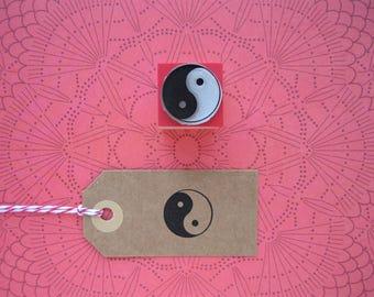 YIN YANG Rubber stamp. Yin Yang Stamp. Yin Yang. Tao rubber stamp. Tao. Chinese symbol stamp. Chinese sign stamp. Chinese Stamp