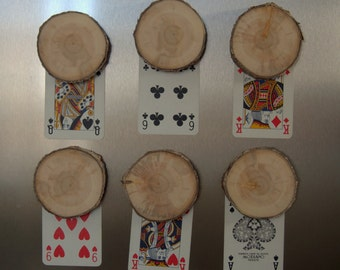 NEW - Wood Slices Magnets - 12 White Branch slices with Magnets - Ornament Supplies - Wedding Supplies - Wedding Favors - 3 inches in diam.