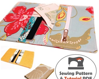 Passport Wallet - Instant Download Sewing Pattern & Tutorial