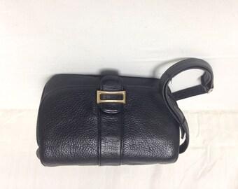Leather Organizer bag, Black leather,Shoulder Bag,Bags purses, St Johns Bay