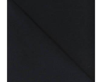 100% cotton fabric black uni - Extra Large - 280 cm per meter