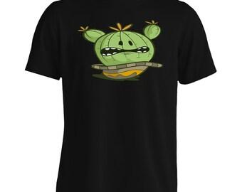 Funny Cactus Art Fun Men's T-Shirt s182m
