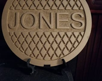 Personalized Small Manhole Cover