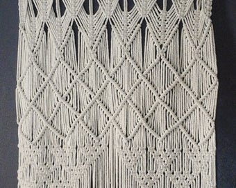 "Title: Gypsy 30"" 36"" Wide Macrame Door Curtain 