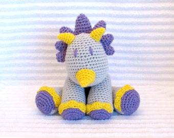 Crochet Dino Stuffed Animal, Crochet Animal, Stuffed Dinosaur , Crochet Stuffed Animal, Dinosaur Nursery, Dinosaur Stuffed Animal, Baby Girl