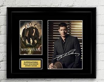 Supernatural Jensen Ackles - Dean Winchester Signed Poster Art Print Artwork Reprint