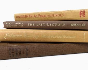 Tan Beige Brown Vintage Books/Book Decor/Book Bundle/Instant Library/Old Books/Books for Decorating/Decorative Book/Photo Prop/Wedding Decor