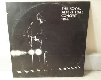 Rare 1971 Vinyl LP Record The Royal Albert Hall Concert 1966 Bob Dylan Unofficial Release Near Mint Condition 15364