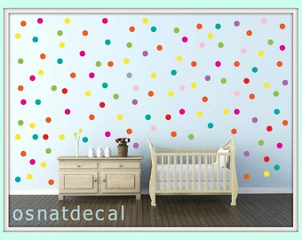 FREE SHIPPING Colored Dots Each Kit  190 . Wall Decal  With Home Decor Nursery Wall Sticker Art Digital