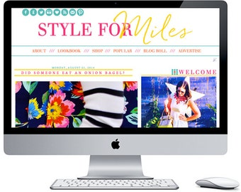 Style For Miles Blogger Blog Template ***Includes Installation***