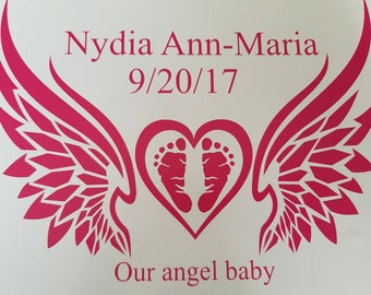 Angel baby decal