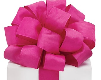 "5YDS Magenta Pink Taffeta 1-1/2"" Wired Edge Ribbon (FREE SHIPPING!)"