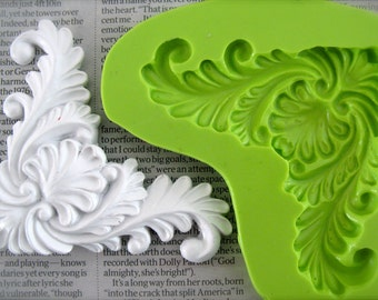 Baroque silicone mould, handmade vintage look mold.