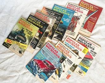 12 Antique Popular Mechanics Magazines 1966 - 1969