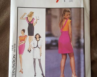 VINTAGE Style 2048 Misses Dress and Jacket 6-16 (1991)
