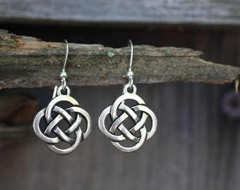 Celtic Knot Earrings with Sterling Silver Ear Wires