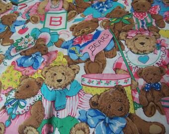 adorable bears fabric pieces