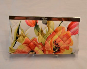 Orange Poppies Clutch Wallet