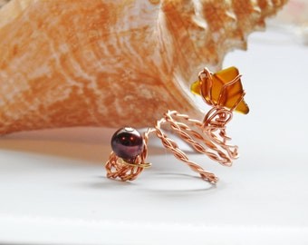 Australian Genuine Sea Glass Ring, Seaglass Rings Statement Ring, Statement Sea Glass, Boho Ring, Seaglass Jewelry, Genuine Seaglass Ring