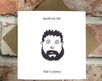 Male Birthday Cards Funny ~ Funny beard card etsy