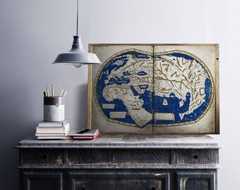 old map poster digital download -  old world map poster - poster map big - big map of world - Ancient map of heart