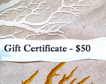 Gift Certificate - 50 dollars, gift for best friend, smartphone accessories, wallet wristlet, gift under 50, ready to ship, instant download