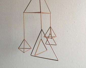 Himmeli Inspired Copper mobile - Kokeilu #25.: Kolme (Three)
