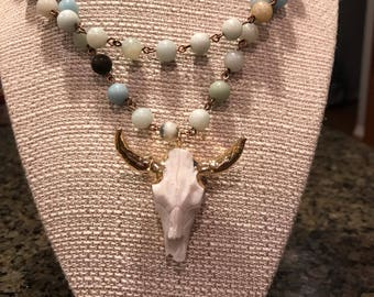 Ranch/ Cowgirl style modern necklace