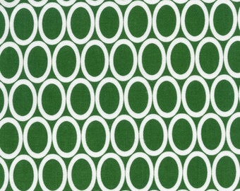 Half Yard Remix Ovals in Kelly, Ann Kelle for Robert Kaufman Fabrics, 100% Cotton Fabric