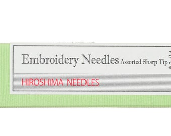 Embroidery Needles Assorted Sharp Tip Thick Sizes
