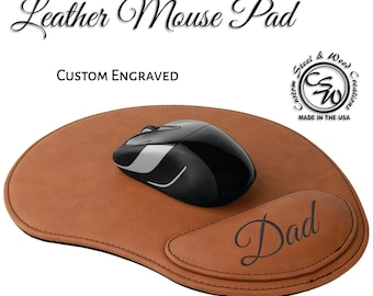 Leather Mouse Pad | Mouse Pad | Personalized Mouse Pad | Leatherette Mouse Pad | Engraved Mouse Pad | Wedding Gift