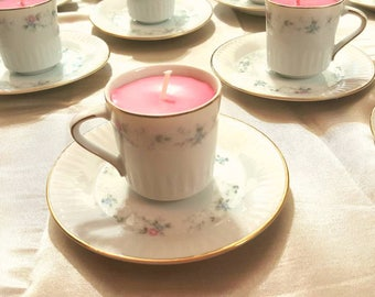 Teacup wedding favors. Tea cup candles for bridesmaids. Perfect tea party favors. Party favors. Tea lovers gift. Bridesmaids gifts. Tea gift