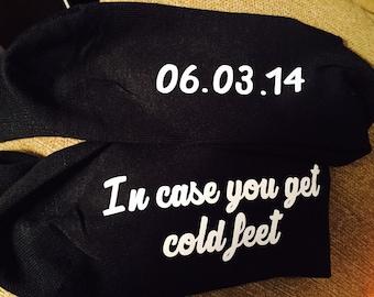 Cold Feet Groom Socks