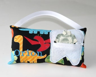 Dinosaur Personalized Tooth Fairy Pillow