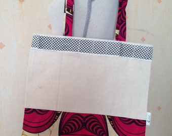New: Bag shopping bag or tote bag in wax and linen