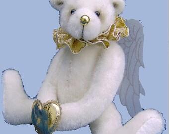 Christmas Angel Celeste Miniature Bear PDF pattern only