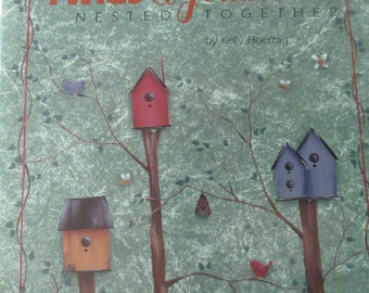 """Decorative Folk Art Tole painting """" Twigs & Feathers Nest Together"""" by Kelly Hoernig   used book 32 pages"""