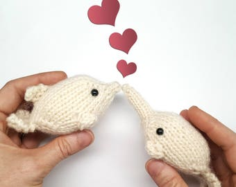 Knitting Pattern Animals - Dolphin and Narwhal - Knitting Pattern - from Ocean Buddies Collection