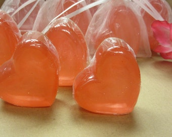 the offset heart soap glycerin soap set of 2 soaps in organza bag
