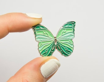 Butterfly Pin / Mint Green Butterfly / Cute Animal Pin / Butterfly Gift / Emaille Pin / Butterfly Enamel Pin / Soft Enamel Pin / Kawaii Pin