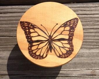 Monarch Butterfly Trinket Box
