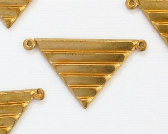 10 TRIANGLE geometric jewelry pendant . 17mm x 29mm (ST67)