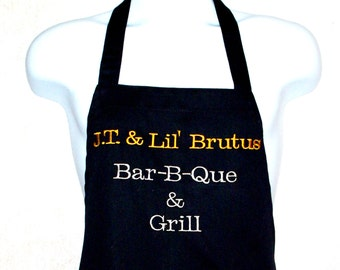 Barbecue, BBQ and Grill Apron, Personalized With Name, Logo Country Store, No Shipping Charge, Ready To Ship TODAY, AGFT 610