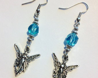 Angel's are with Me Earrings in light Blue, For Her, Mother's Day