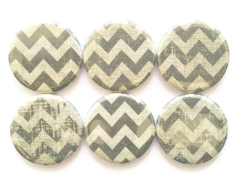 Magnets Vintage Green Chevrons Decorative Refrigerator Magnets Farmhouse Decor Country Decor Kitchen Magnets Fridge Magnets, 6/Set
