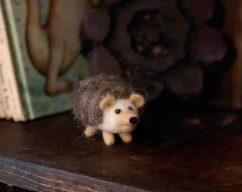 Needle Felted Wool Hedgehog-Hedgie Soft Scuplture OOAK