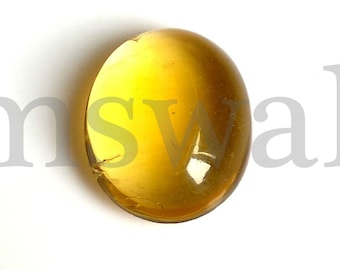 Fluorite Oval Cabochon, Natural Yellow Fluorite Cabochon, 16x13 MM, Fluorite Smooth Cabochon, 11 Cts, Yellow Fluorite Loose Gemstone.