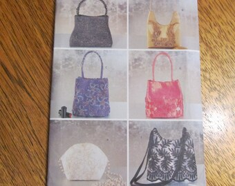 LUXURIOUS Evening Hand Bags - Make Your Own Elegance - UNCUT Sewing Pattern Butterick 6907