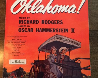 1943 OKLAHOMA Sheet Music Book